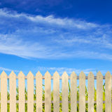 White fences Stock Photos