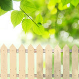 White fences Royalty Free Stock Image