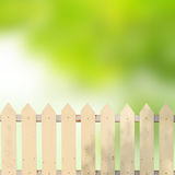 White fences with green leaves Stock Photos