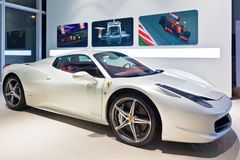 White Ferrari 2 Stock Image