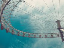 White Ferris Wheel stock images