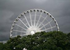 White ferris wheel Royalty Free Stock Images