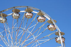 White Ferris Wheel. Ferris wheel showing one fourth of the wheel Stock Photo