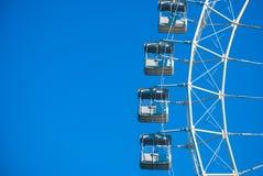White ferris wheel Stock Images