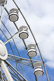White ferris wheel and cloudy sky Royalty Free Stock Photography