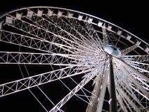 White Ferris Wheel over dark night sky Royalty Free Stock Photography