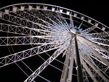 White Ferris Wheel over dark night sky. Sky Wheel - Observation/Ferris wheel at Niagara Falls, Canada Royalty Free Stock Photos