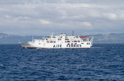 White ferry off Bohol Island, Philippines stock photography