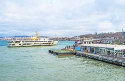The white ferry Stock Images