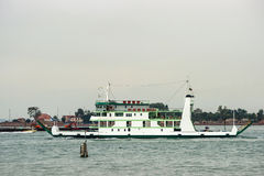 White ferry in summer Venice Royalty Free Stock Images