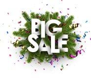 White festive big sale sign. Royalty Free Stock Image