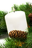White festive candle Royalty Free Stock Photography