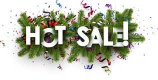 White festive hot sale sign. Royalty Free Stock Photography