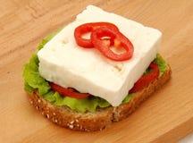 White feta cheese Stock Images