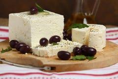 White feta cheese Stock Photo