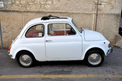 White Fiat 500 Royalty Free Stock Images