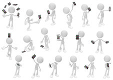 White Figure Action, Smartphone Royalty Free Stock Photos