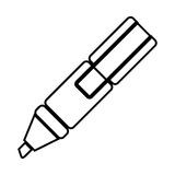 White figure highlighter pen icon Royalty Free Stock Image