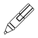 White figure highlighter pen icon. Illustraction design Royalty Free Stock Image