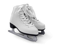 White figure ice skates Stock Photos