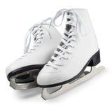White Figure Skates Stock Photos