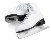 White figure skates Royalty Free Stock Photos