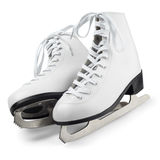 White figure skates Stock Photos