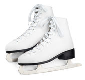 White figure skates Stock Images