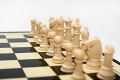 White figures on the chess board Royalty Free Stock Photography