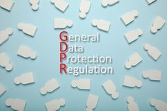 White figures of people and the inscription GDPR. General Data Protection Regulation royalty free stock photos
