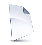 White file. Isolated on white Stock Photos