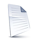 White file. Isolated on white Royalty Free Stock Image