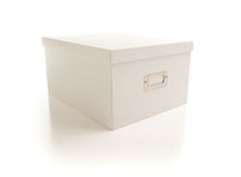 White File Box Isolated on Background Royalty Free Stock Photography