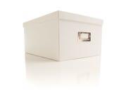 White File Box Isolated on Background Stock Image