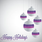 White filigree baubles with gradient. In vector format Royalty Free Stock Photography