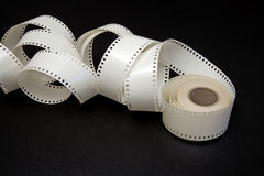 White film reel on a black background Stock Image