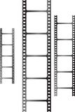White film triple. A collection of three films stood up in a vertical plane Royalty Free Stock Image