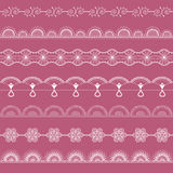 White fine openwork lace kit Royalty Free Stock Photos