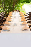 White Fine Table Setting Stock Images