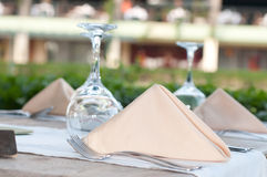 White Fine Table Setting. Stock Image