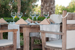 White Fine Table Setting. Royalty Free Stock Photos