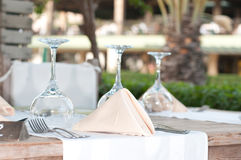 White Fine Table Setting. Royalty Free Stock Images