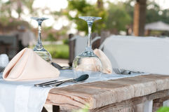 White Fine Table Setting. Stock Photo