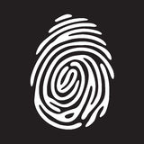White finger print. On black background Royalty Free Stock Images