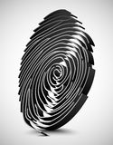 White fingerprint scanner. 3D illustration Stock Image