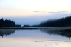 White Finnish Nights, Nature And Lake Royalty Free Stock Images