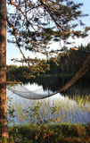 White Finnish nights, nature and lake Stock Photography