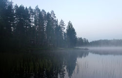 White Finnish nights, nature and lake Royalty Free Stock Photography
