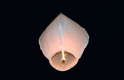 White fire balloon Royalty Free Stock Image