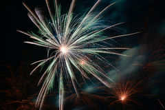 White fire work Royalty Free Stock Photo
